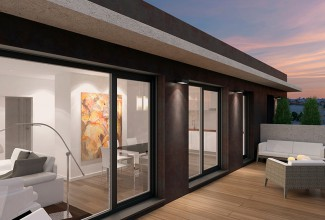 New luxury residential complex in the centre of Valencia.