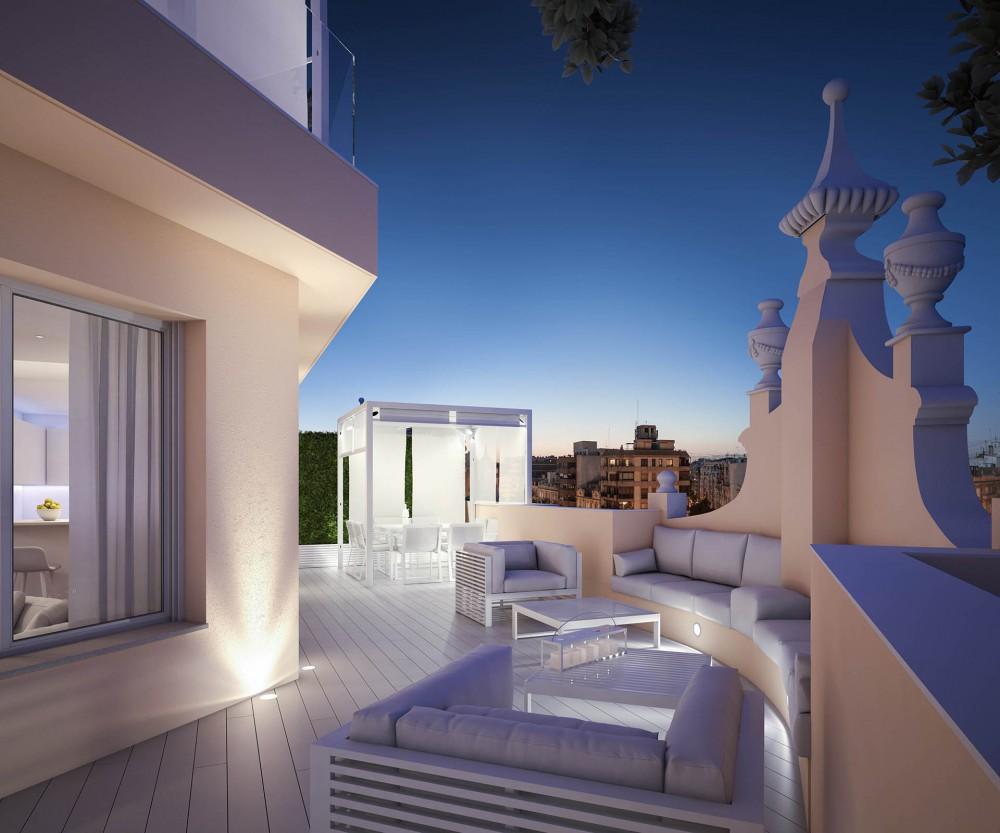 Exclusivos pisos en el centro de Valencia.