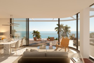 New luxury residential complex on frontline beach in Denia.